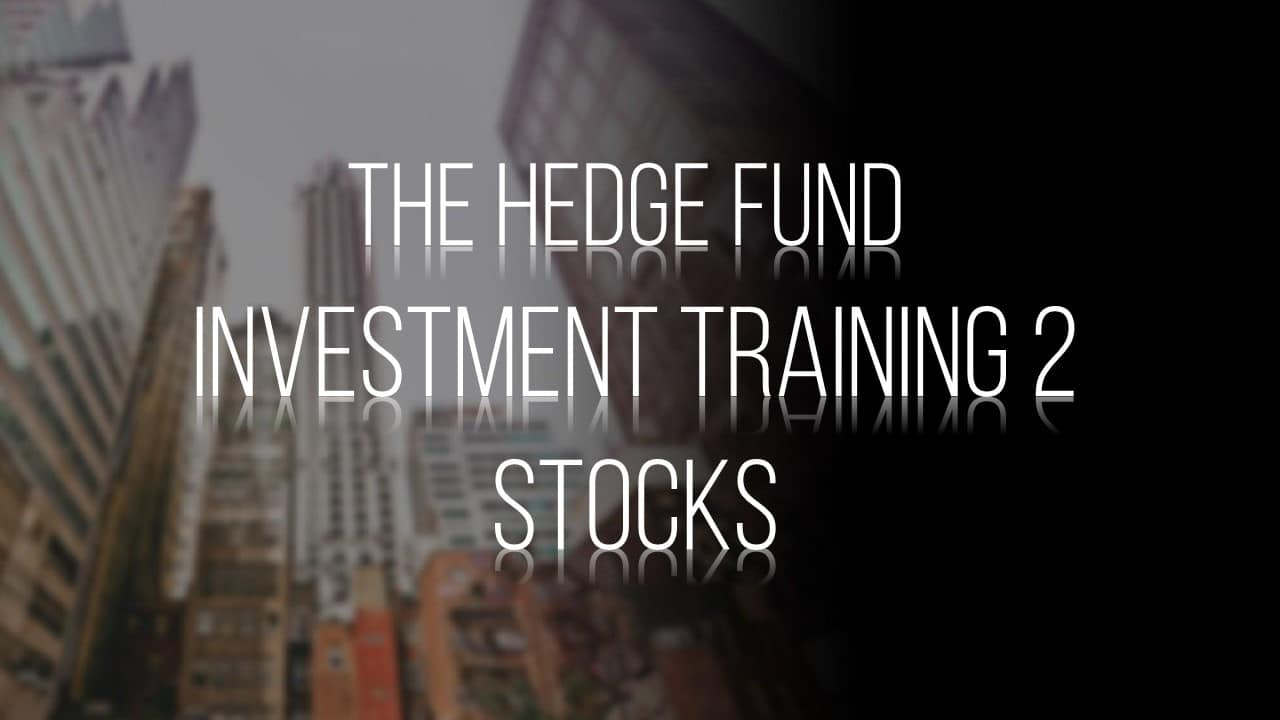 Hedge Fund Stock Investment Training 2