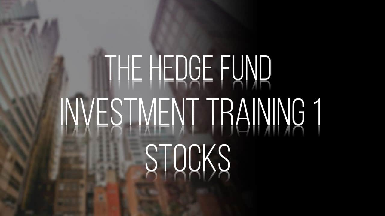 Hedge Fund Stock Investment Training
